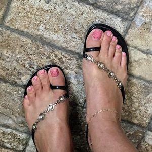 Matisse Shoes Black/ Rhinestones Size 8 EUC